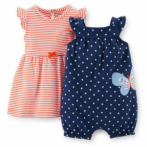 Carters Baby Girl Dress & Romper Set Clothes Red